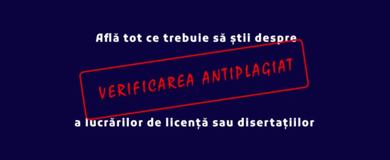 Sesiune de informare – verificarea antiplagiat