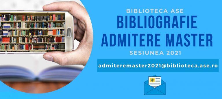 Material bibliografic digital pentru examenul de admitere la programele de master