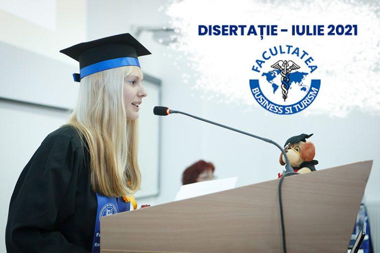 Disertație – iulie 2021