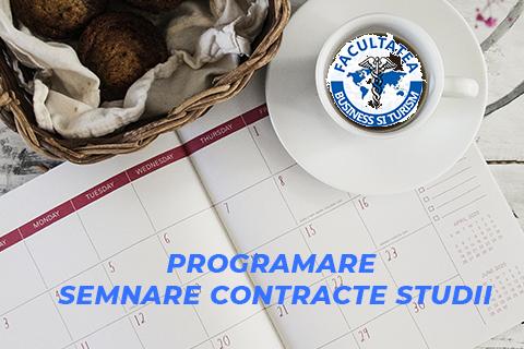 Programare semnare contracte studii – anul I licență și master